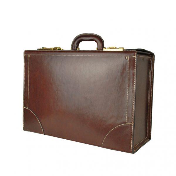 Kožený pracovný kuforz kvalitnej a odolnej kože