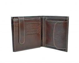 Kožená peňaženka s bohatou výbavou č.8334 v hnedej farbe (2)