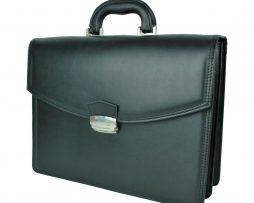 2e53647fda Praktická bussines taška na notebook 8676 v čiernej farbe