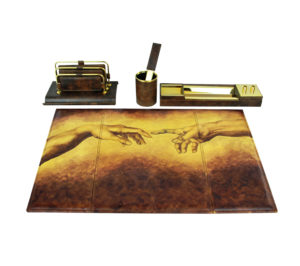 Ručne maľovaný kancelársky set 8086 inšpirovaný motívom Michelangelo (6)