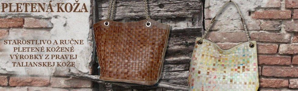 Pletené kožené výrobky, tkaná koža