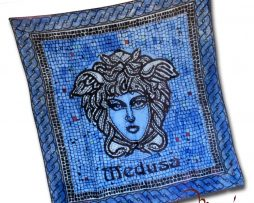 Hodvábna šatka - medusa blue - www.mariejean.eu