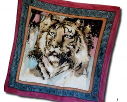 Hodvábna šatka - tiger - www.mariejean.eu