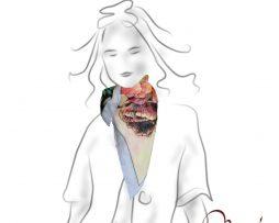Luxusná hodvábna šatka - maky - www.mariejean.eu