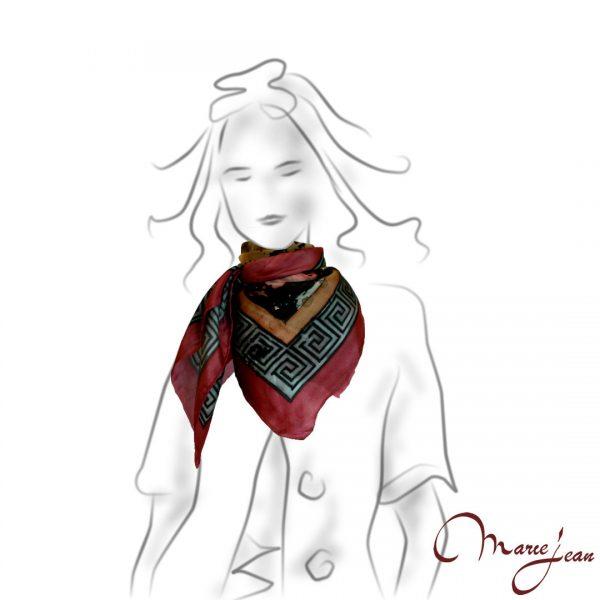 Maľovaná Hodvábna šatka - tiger - www.mariejean.eu