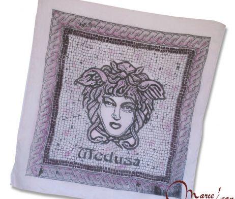 Maľovaná hodvábna šatka - medusa fialová- www.mariejean.eu