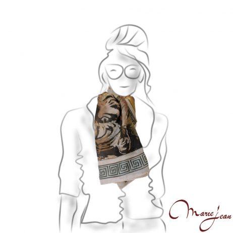 Maľovaná hodvábna šatka - www.mariejean.eu