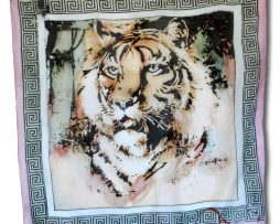 malovana hodvabna satka - pink tiger - www.kozene.sk