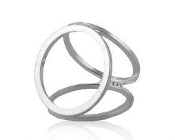 Prstenec na šatku – Simple - strieborný