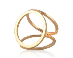 Prstenec na šatku – Simple - zlatý