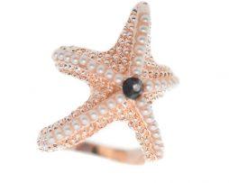 Hviezdica je vyzdobená bielymi kamienkami a pripomína reálnu morskú hviezdicu