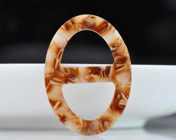Luxusná pracka na šatku a šál vyrobená zo živice v kávovej farbe