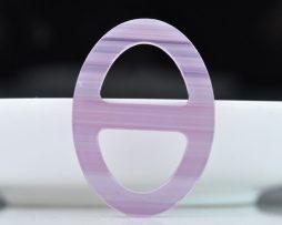 Luxusná pracka na šatku a šál vyrobená zo živice vo fialovej farbe