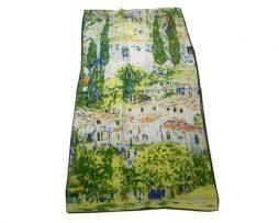 Luxusný hodvábny šál Gustav Klimt - Kostol v Cassone