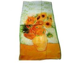 Luxusný hodvábny šál Vincent Van Gogh - Slnečnice
