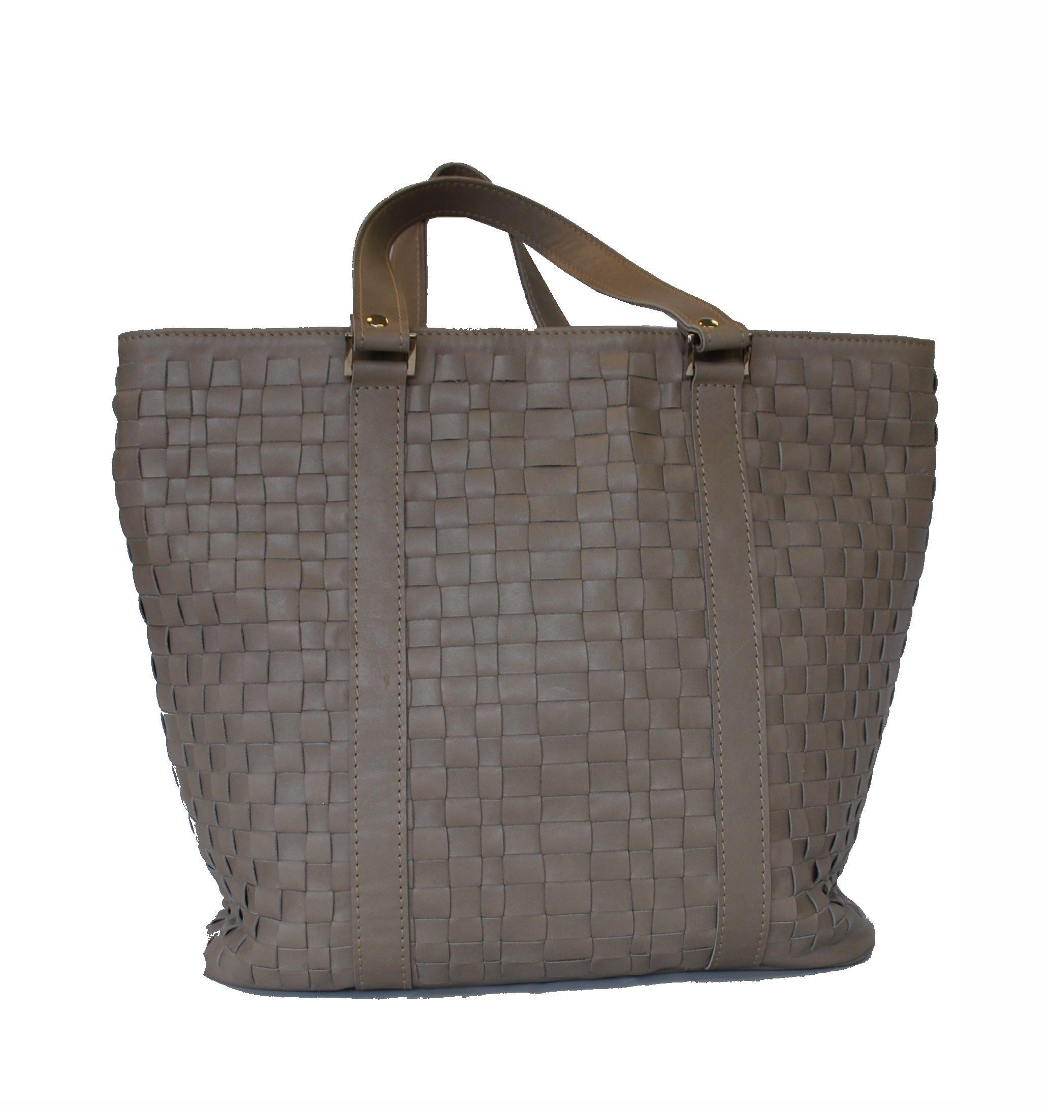 8196d9d633 Luxusná pletená kožená kabelka č.8633 v šedej farbe