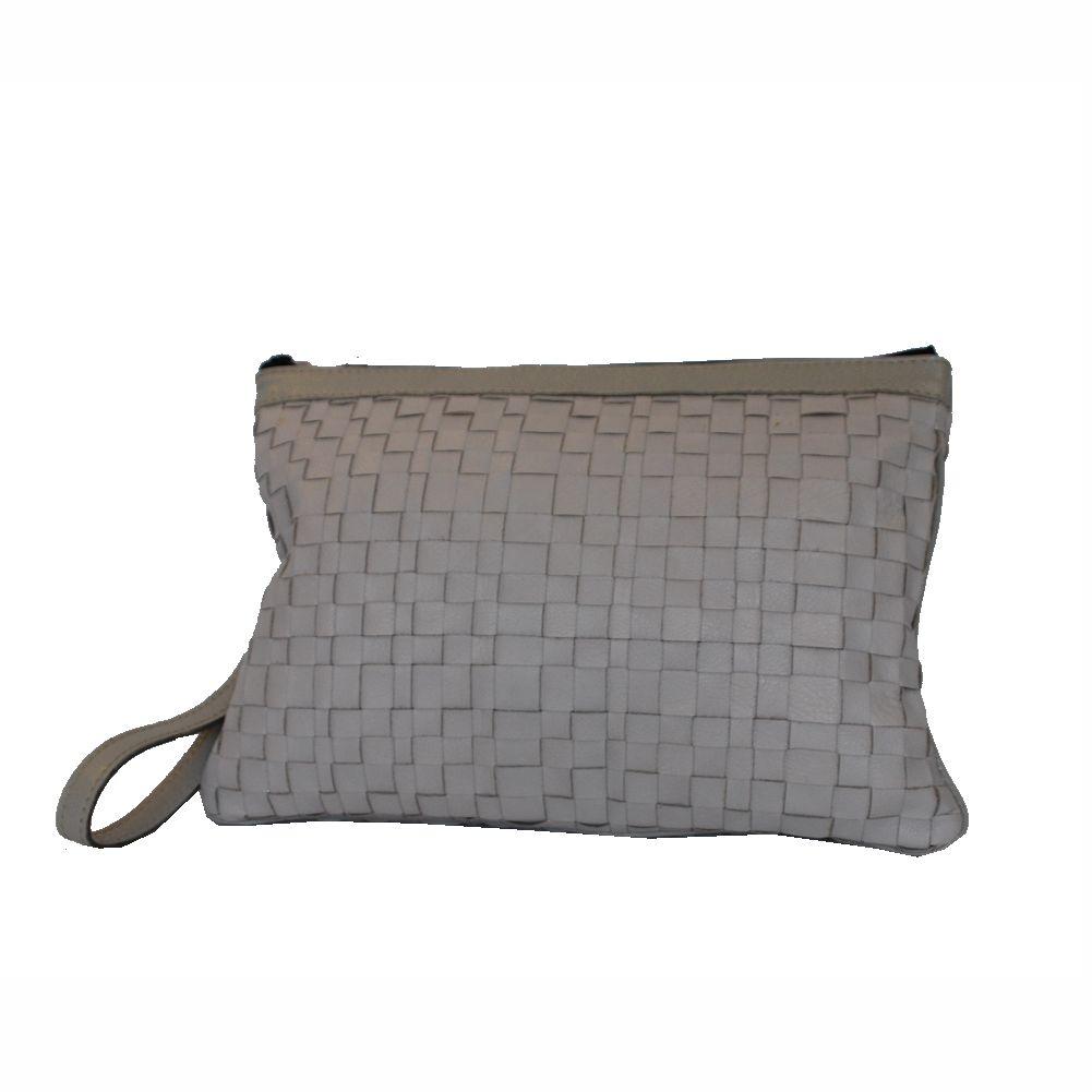 bbc1806c7b Nádherná pletená kožená kabelka č. 8636 v šedej farbe