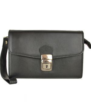 Luxusná kožená etuja č.8335, viacúčelové púzdro v čiernej farbe