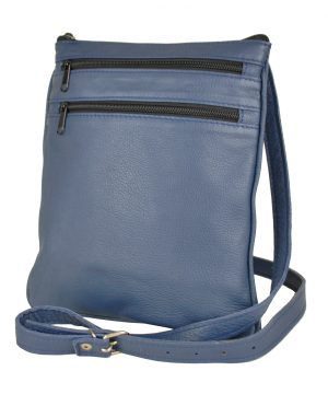 Elegantná kožená etuja č.8639, viacúčelové púzdro v modrej farbe