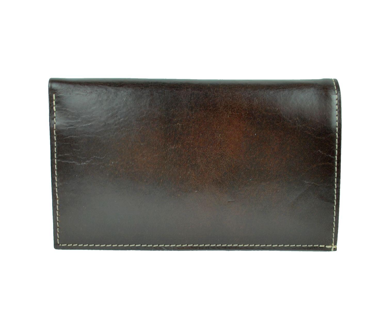 Elegantná kožená dokladovka č.8203 v tmavo hnedej farbe aa4829a19e1