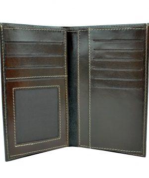 Elegantná kožená dokladovka č.8203 v tmavo hnedej farbe (2)