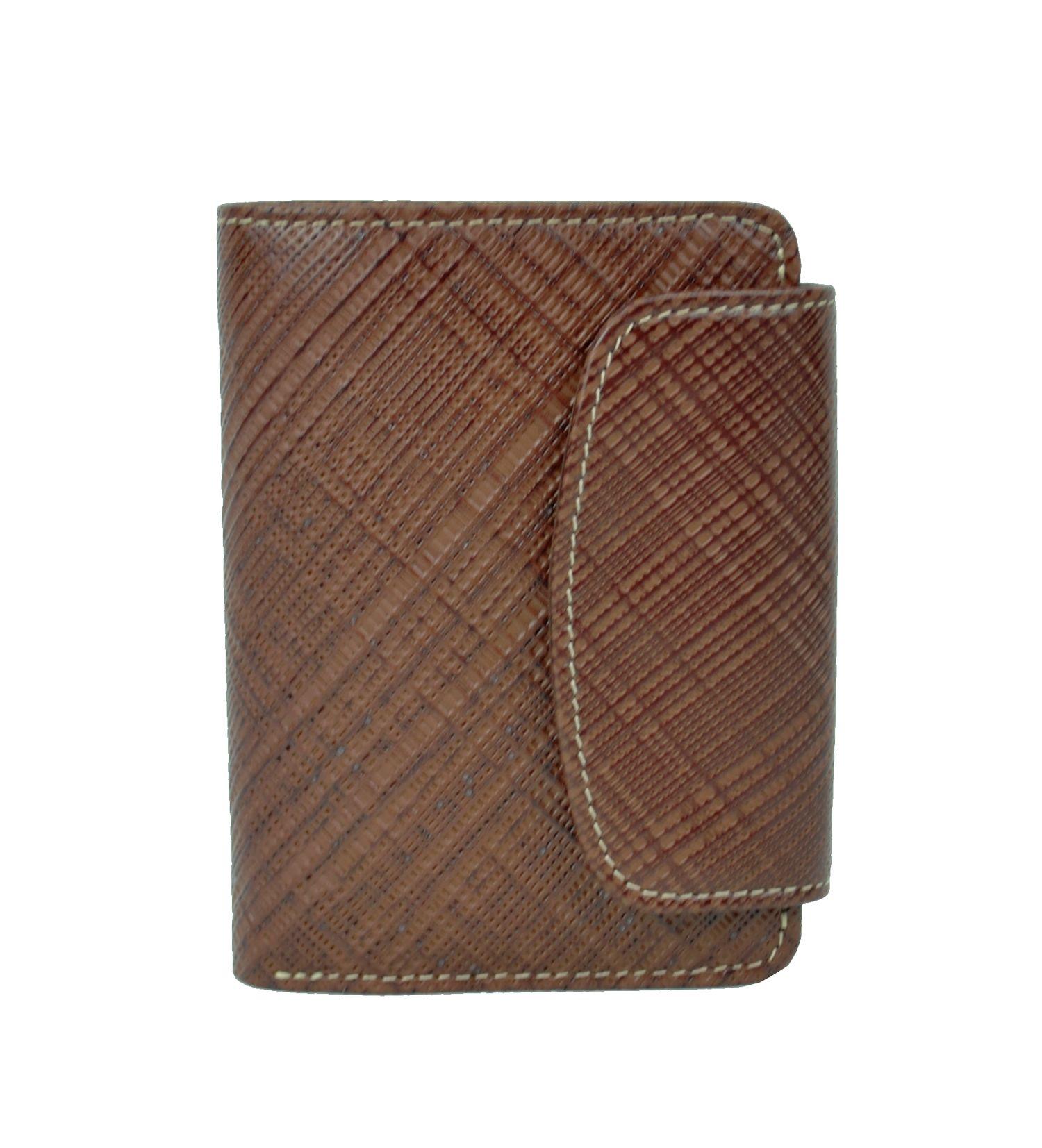 Kožená peňaženka s mriežkovaným dekorom dc52fd48b21