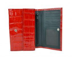 Lakovaná kožená peňaženka č.8542 v červenej farbe (1)