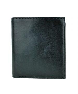 Luxusná kožená peňaženka č.83331 v čiernej farbe (1)