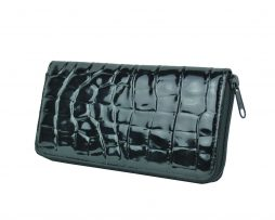 Originálna kožená peňaženka č.86063 so vzorom hadiny v čiernej farbe (1)