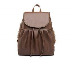 Luxusný kožený ruksak z pravej hovädzej kože č.8665 v hnedej farbe (1)