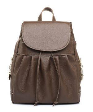 Luxusný kožený ruksak z pravej hovädzej kože č.8665 v hnedej farbe