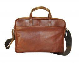 Kožená taška na notebook v hnedej farbe č.8367