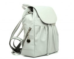 Dámsky kožený módny ruksak z prírodnej kože v šedej farbe (2)
