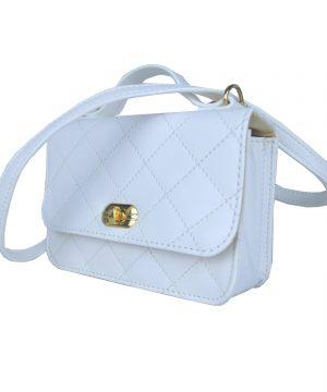 Dámska štýlová kabelka crossbody 8679 v bielej farbe