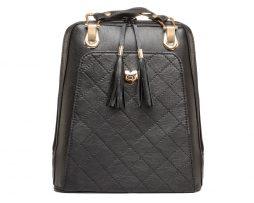Kožený ruksak z pravej hovädzej kože č.8668 v čiernej farbe (2)