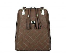 Kožený ruksak z pravej hovädzej kože č.8668 v hnedej farbe (1)
