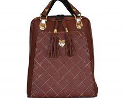 Kožený ruksak z pravej hovädzej kože č.8668 v hnedej farbe (2)