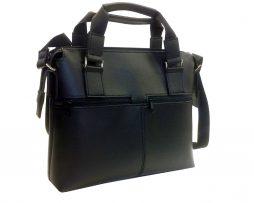 Praktická bussines taška na notebook 8676 v čiernej farbe je elegantná taška na notebook pre štýlové nosenie vášho notebooku