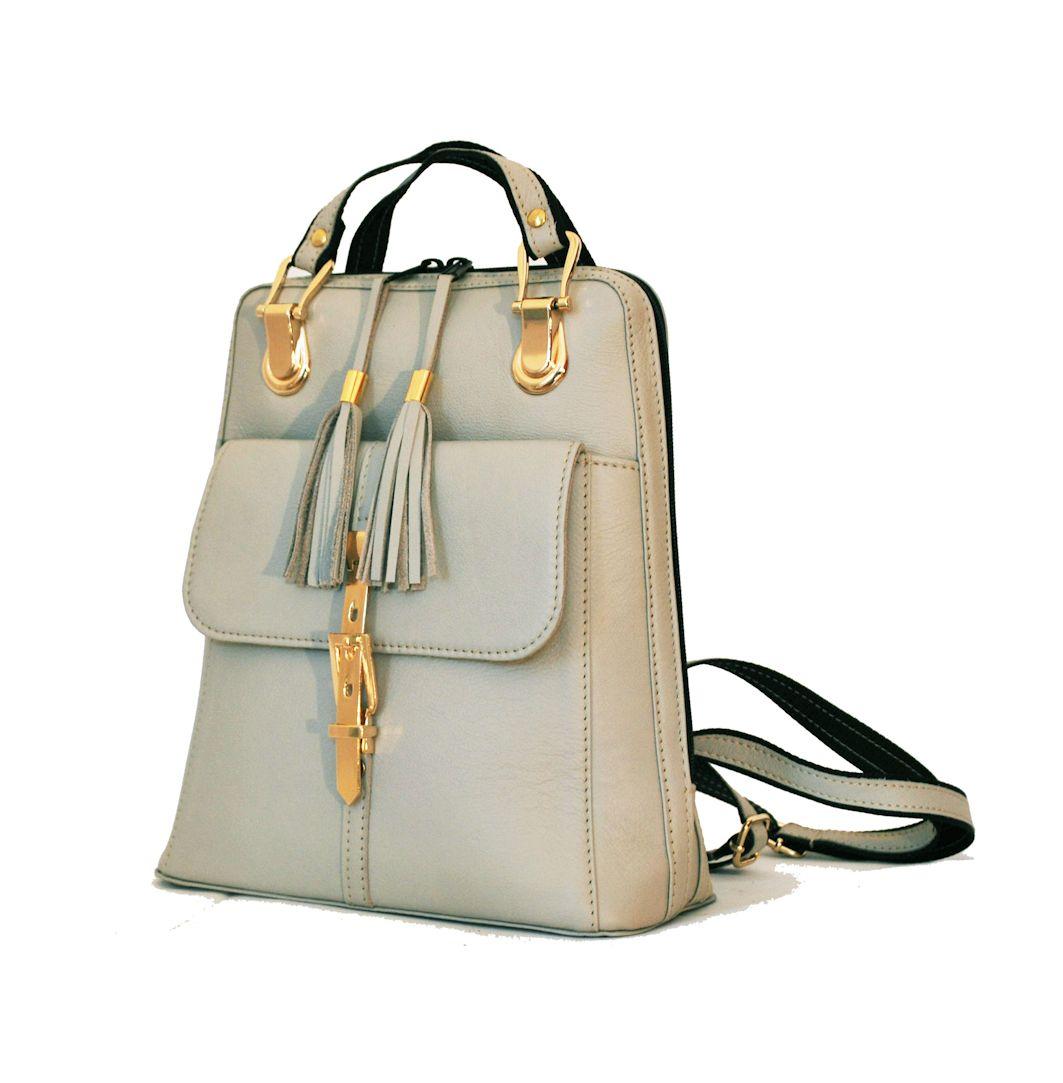 d42c78e441c8 Moderný dámsky kožený ruksak z prírodnej kože