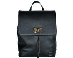 Moderný ruksakz hovädzej kože8709 v čiernej farbe. Ruksak je vyrobený zprírodnej hovädzej usne. Kombinácia moderného dizajnu s prvotriednou kožou. (2)