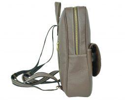 Kožený ruksak z pravej kože v hnedej farbe (4)