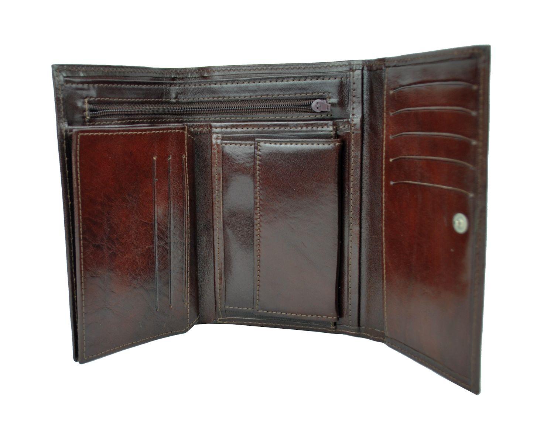 32a251dc4f Elegantná peňaženka z pravej kože č.8559 v tmavo hnedej farbe (2)