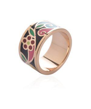 Exkluzívna brošňa v podobe prsteňa v zlatej farbe - vzor 14