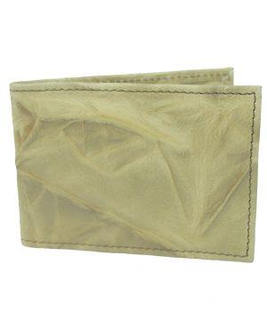 Púzdro z kože na platobné karty, 3D pokrčený bežový dekor (2)