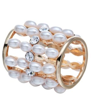 Dámsky šperk na šatku alebo šál s imitáciou periel (1)