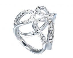 Elegantný kruhový šperk pre šatku alebo šál v striebornej farbe (1)
