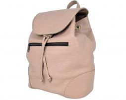 Kožený batoh vo svetlo fialovej farbe