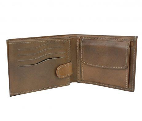 Elegantná peňaženka z pravej kože č.8552 v hnedej farbe