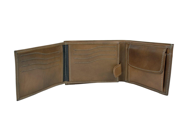 Praktická kožená peňaženka vyrobená z prírodnej kože 1a3b7acf9c5