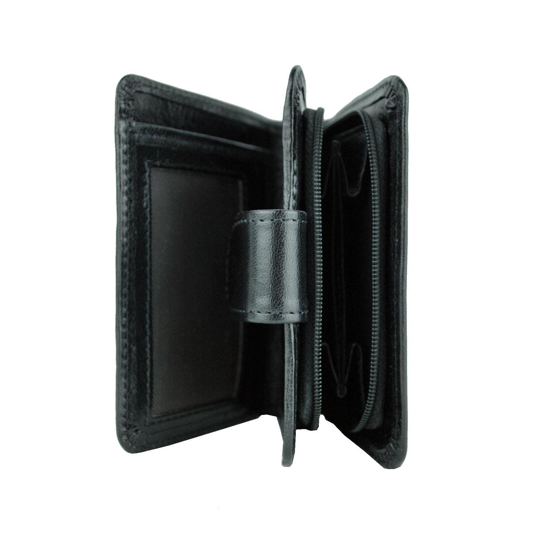 Dámska malá praktická kožená peňaženka č.8504 v čiernej farbe 937dfd28eb8